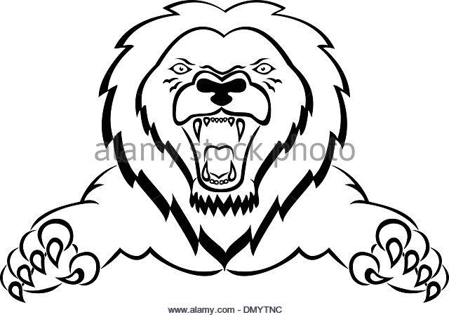 640x452 Lion Attacking Tattoo Stock Photos Amp Lion Attacking Tattoo Stock