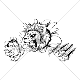 325x325 Lion Claw Breakthrough Gl Stock Images