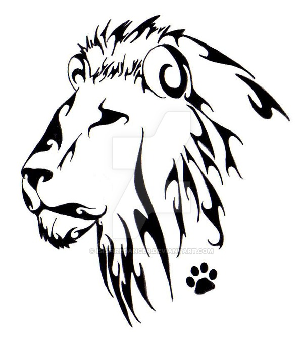 600x692 Lion Head Tattoo By Isisfiredancer