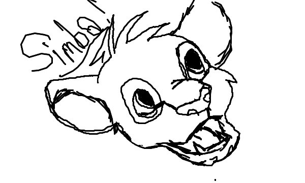 600x360 Simba From The Lion King Head Shot Sketch By Swiftshadow64