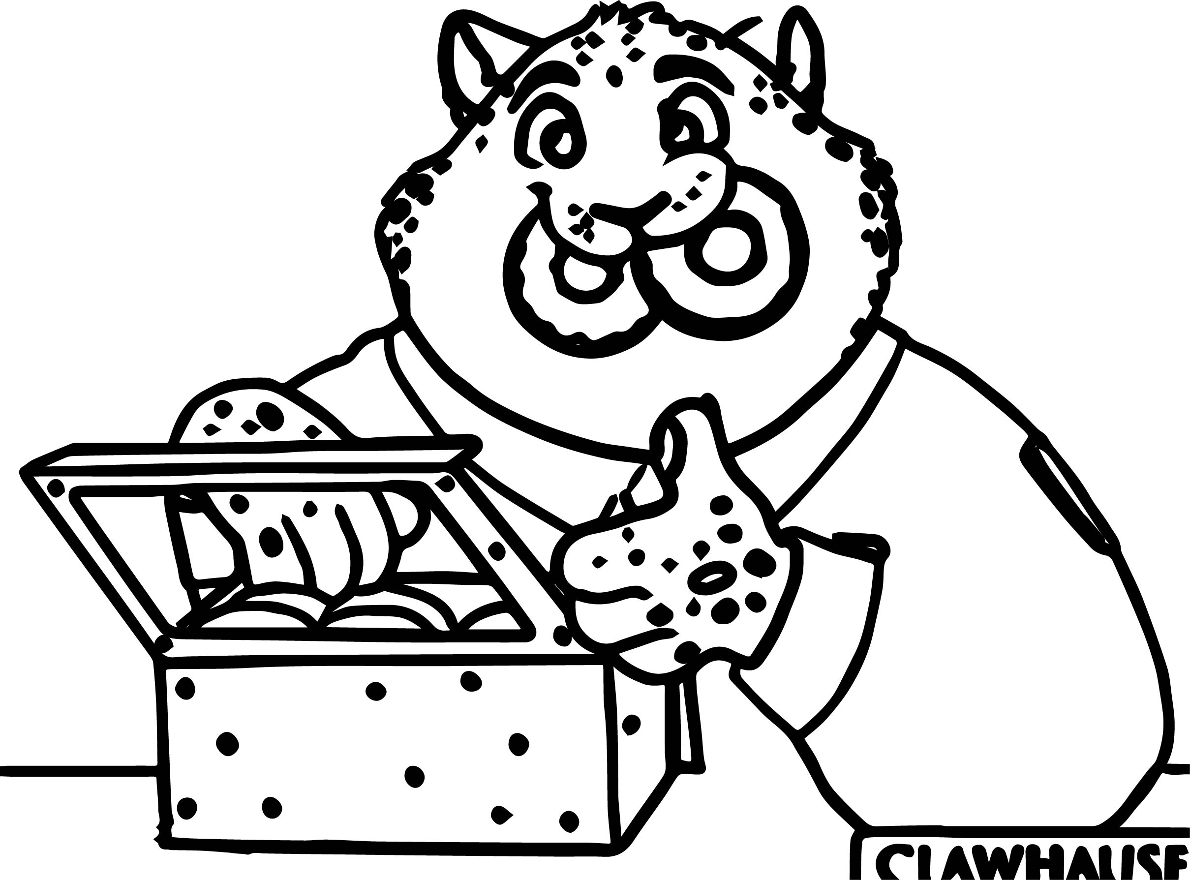 2419x1789 Zootopia Clawhauser Police Lion Coloring Page Wecoloringpage