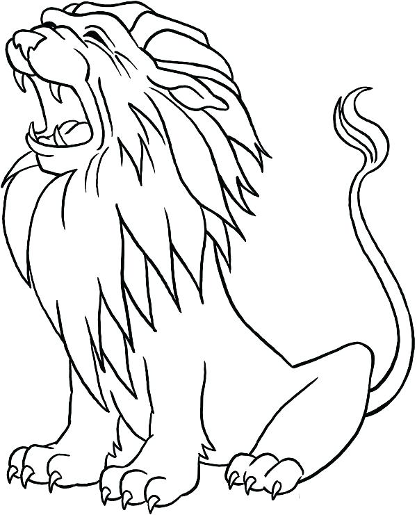 600x741 Lion Coloring Page Coloring Pages Lion King Lion Coloring Pages