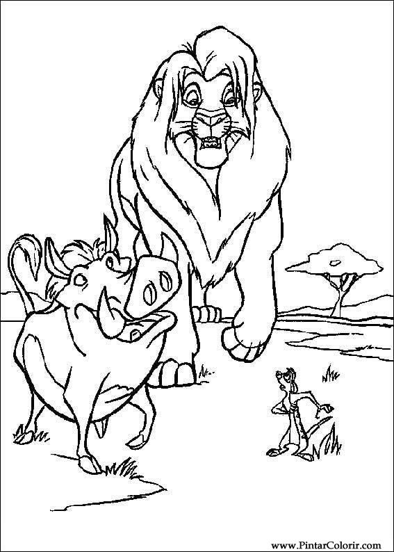 567x794 Drawings To Paint Amp Colour Lion King 3