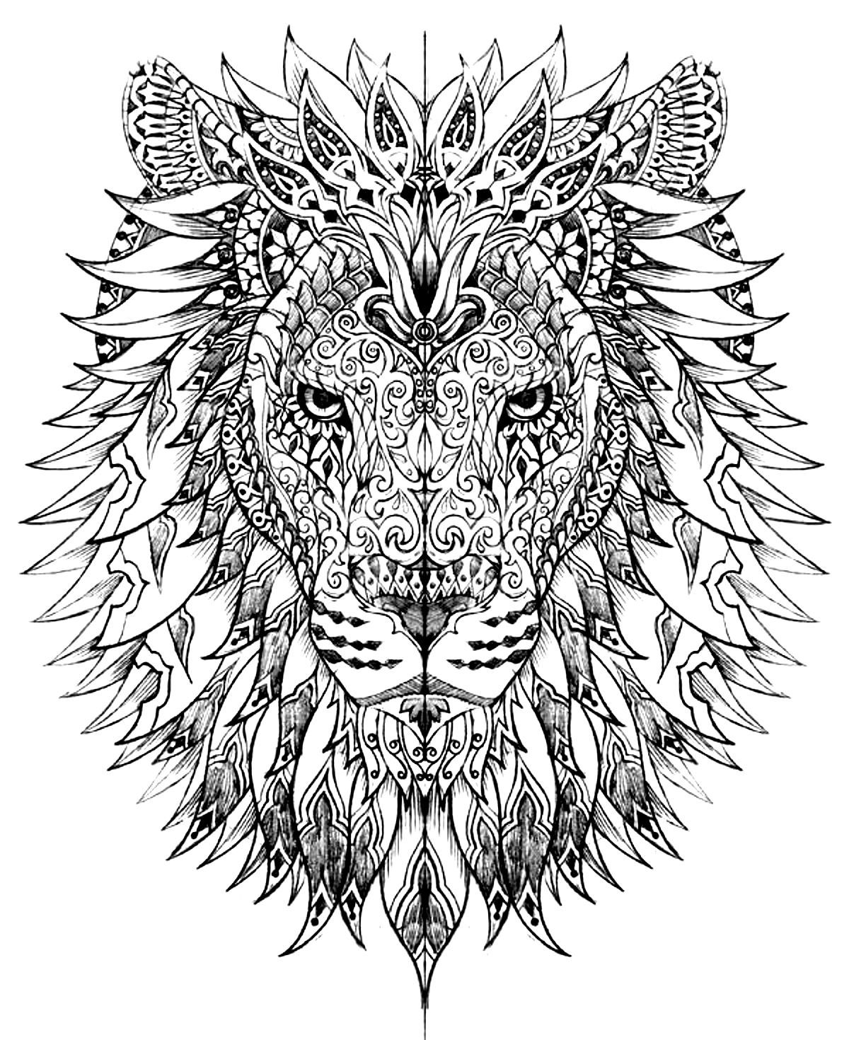 1200x1470 Free Coloring Pages Printables Lions, Adult Coloring And Fun