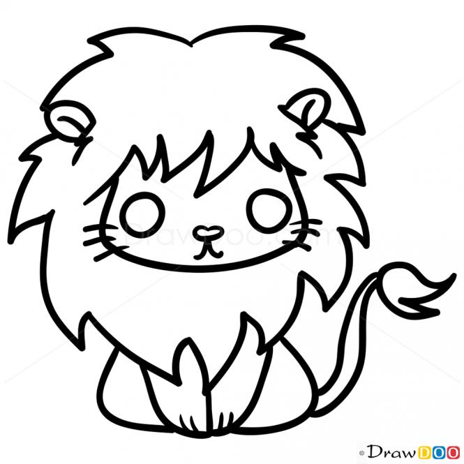 665x665 Drawn Lion Cute Chibi