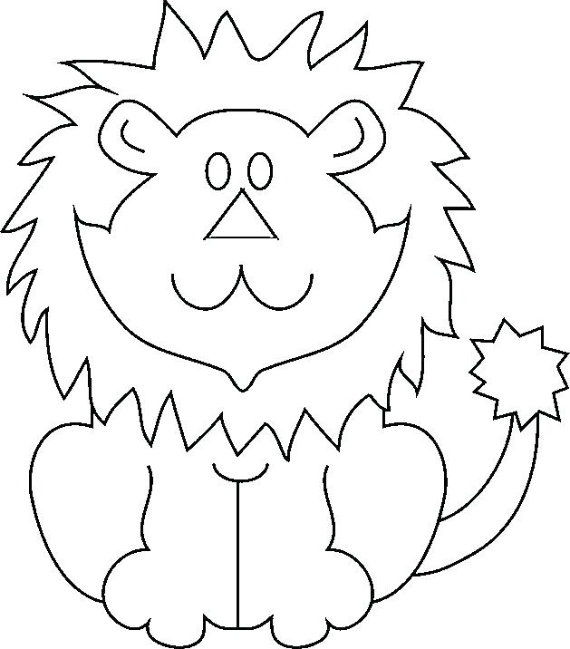 629x716 Coloring Page Lion Creation The Lion Lion Color By Number Page