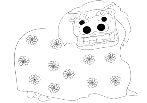 480x339 Lion Dance Coloring Page Free Printable Coloring Pages