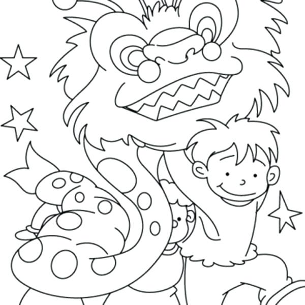 600x600 Chinese New Year Coloring Pages For Preschool Convobox.co