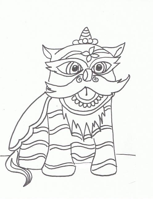 496x646 My Drawing Of A Chinese Lion Dance Figure Asian Inspired Art