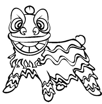 343x350 Chinese New Year Lion Dance Coloring Page Kids Coloring Pages