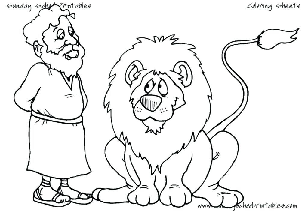 1024x707 Daniel And The Lions Den Coloring Pages Free And Has Fear After