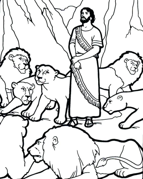 600x749 Daniel In The Lions Den Coloring Page And Picture