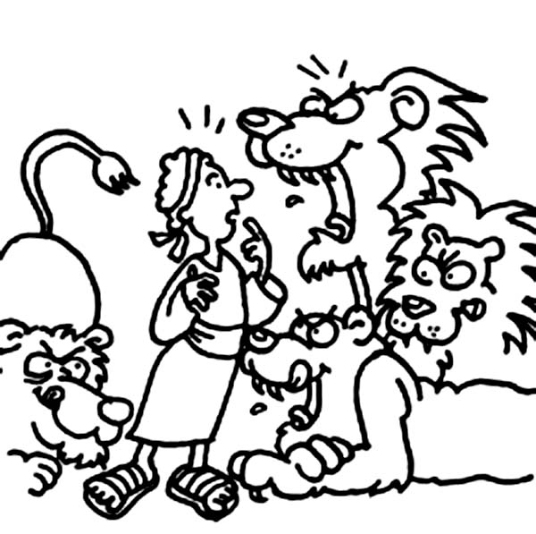 600x597 Daniel And The Lions Den Coloring Pictures PICT 34262