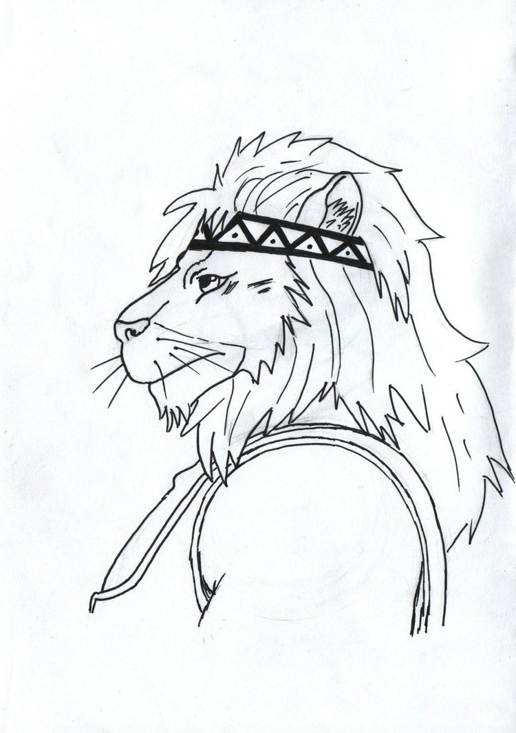 750x1066 Anthro Lion drawing by Richtoon19 on DeviantArt