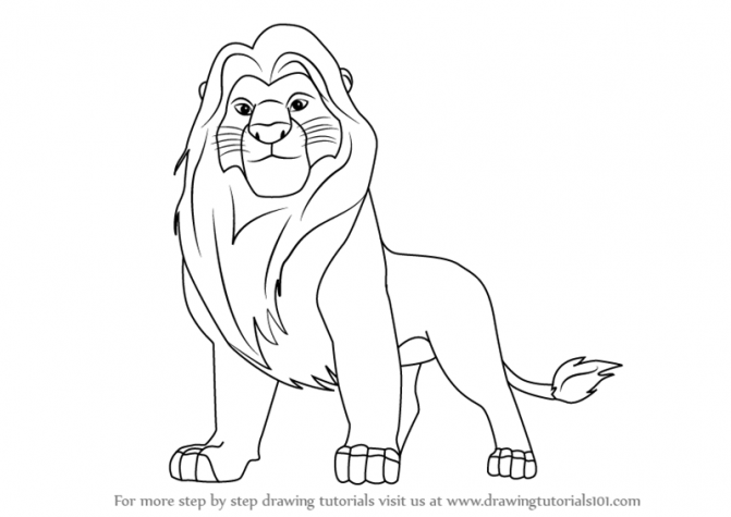 671x475 Lion King Drawing Step By Step Tags The Lion King Drawing How To