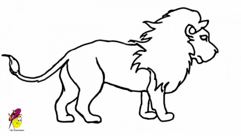 974x548 Coloring Pages Easy Drawing Of A Lion Maxresdefault Coloring