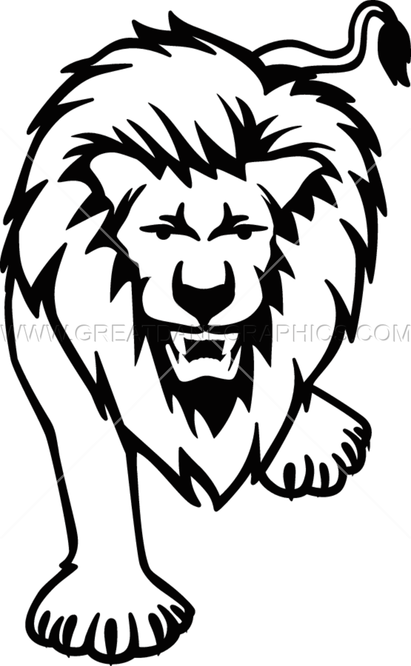825x1338 Full Lion Production Ready Artwork For T Shirt Printing