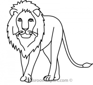 300x275 Lion Cub Clipart Black And White