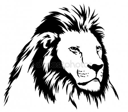 450x394 Black And White Monochrome Painting With Water And Ink Draw Lion