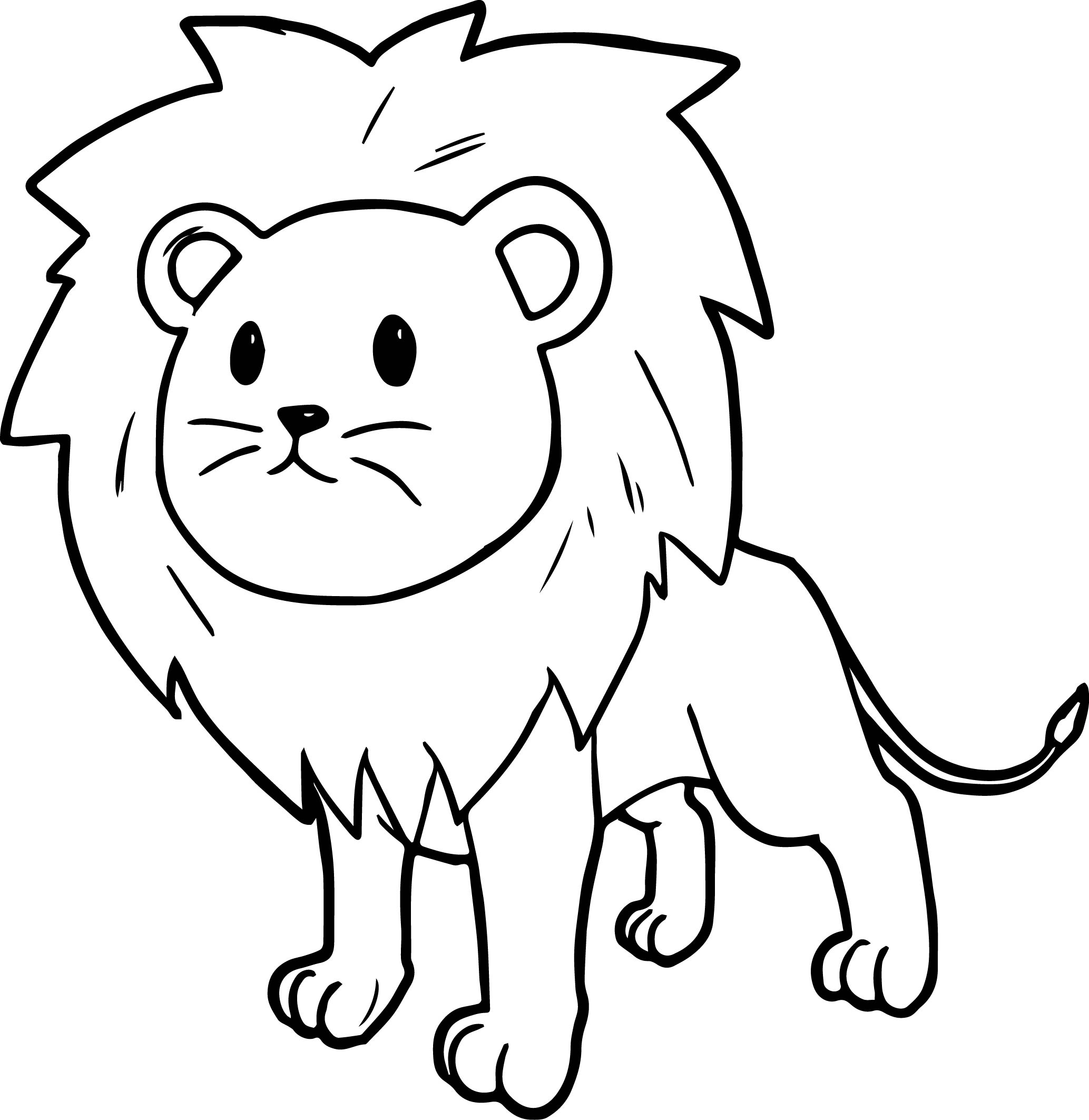 Lion Drawing Cartoon at GetDrawings.com | Free for personal use Lion ...