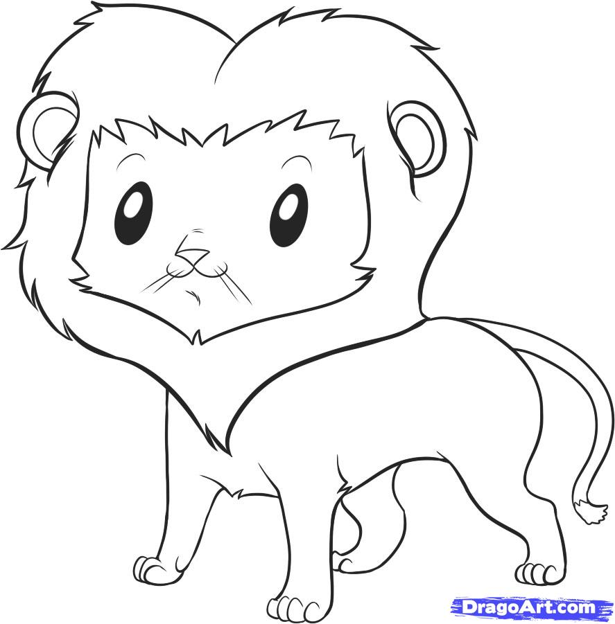 Lion Drawing Cartoon At Getdrawings Com Free For Personal Use Lion