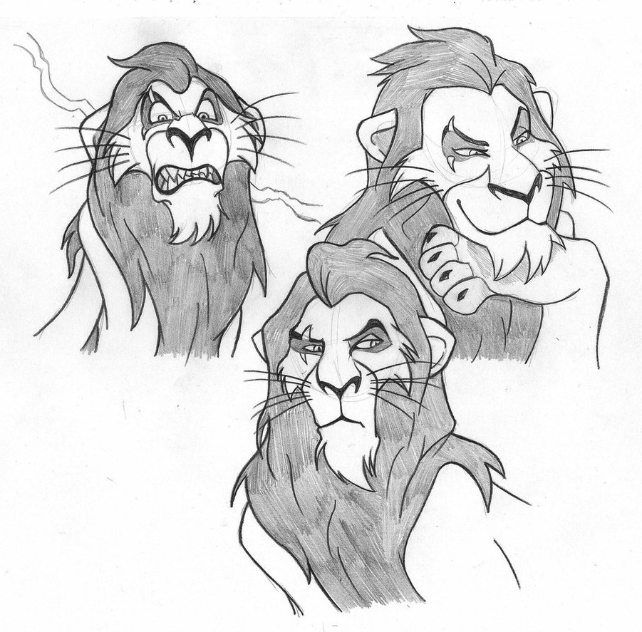 901x887 Scar From The Lion King