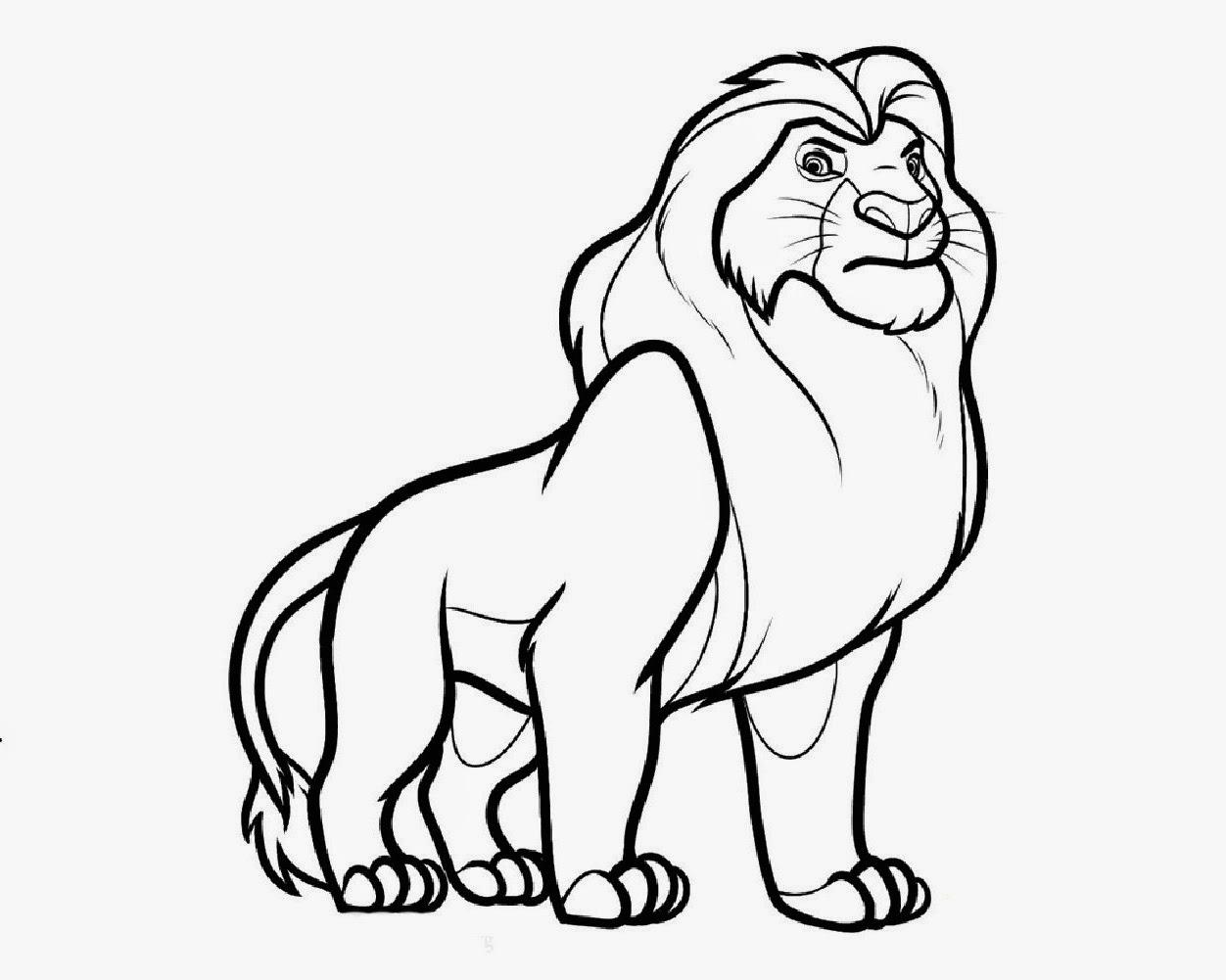 1252x1001 Easy Pencil Sketches Of Cartoon Lion