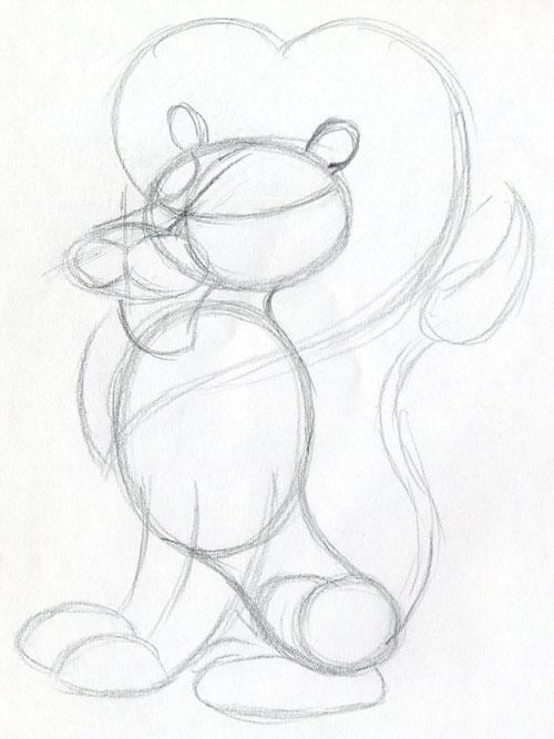 500x667 How To Draw Cartoon Lion In Few Easy Steps.