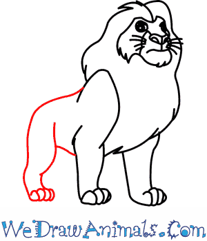 300x350 How To Draw Mufasa From The Lion King