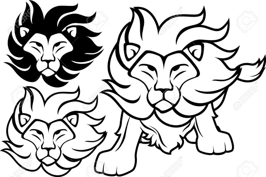 1024x682 Lion Clipart Easy
