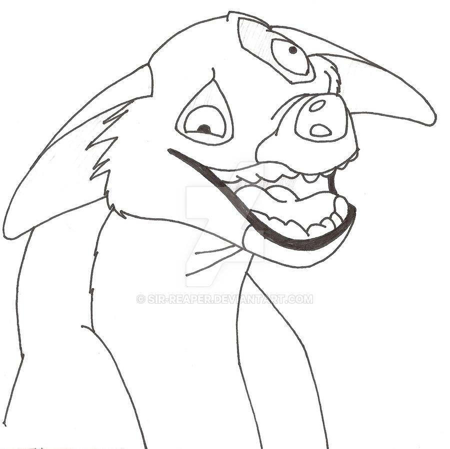 900x899 Drawn Hyena Drawing Lion King