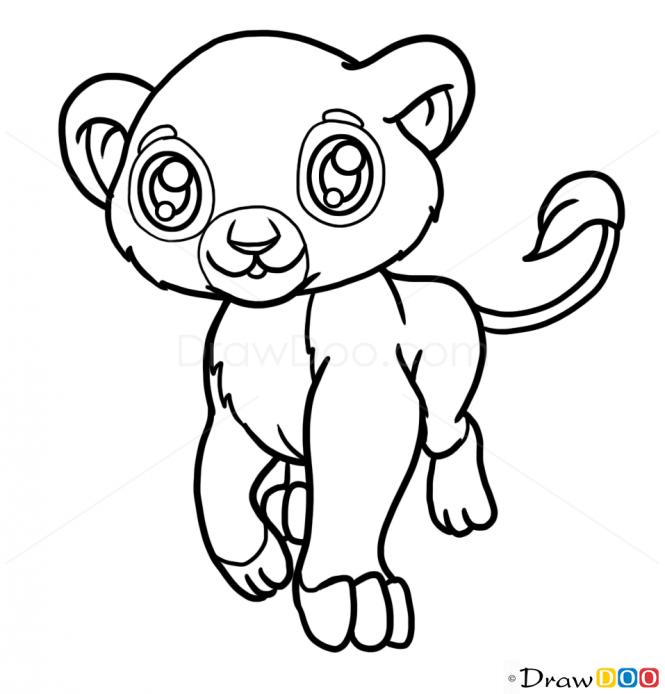 665x694 Drawn Lion Baby Lion