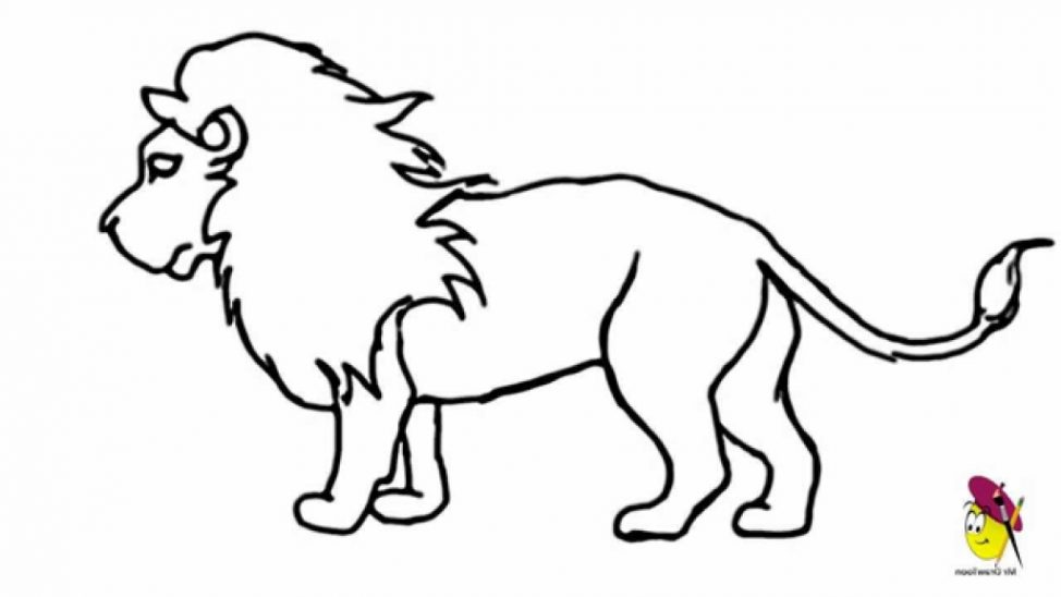 974x548 Easy Lion Pictures To Draw