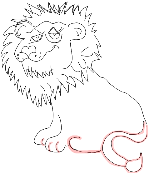 477x554 How To Draw Cartoon Lions Jungle Animals Step By Step Drawing