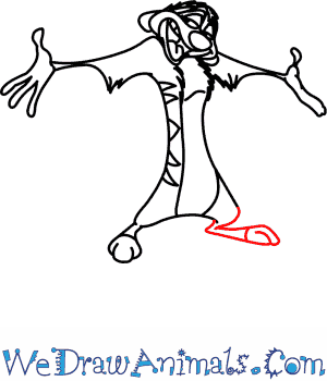 300x350 How To Draw Timon From The Lion King