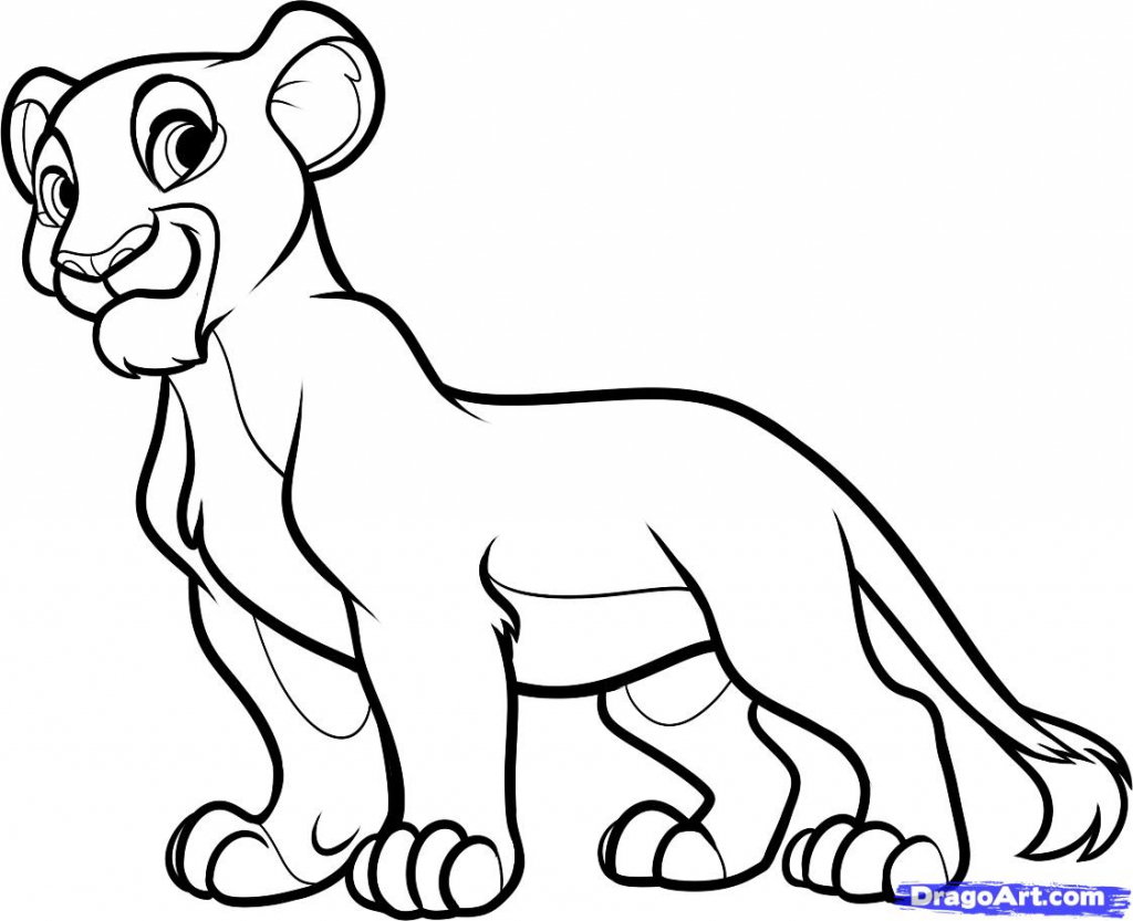 1024x833 King Sketch Images For Kids How To Draw Nala From The Lion King