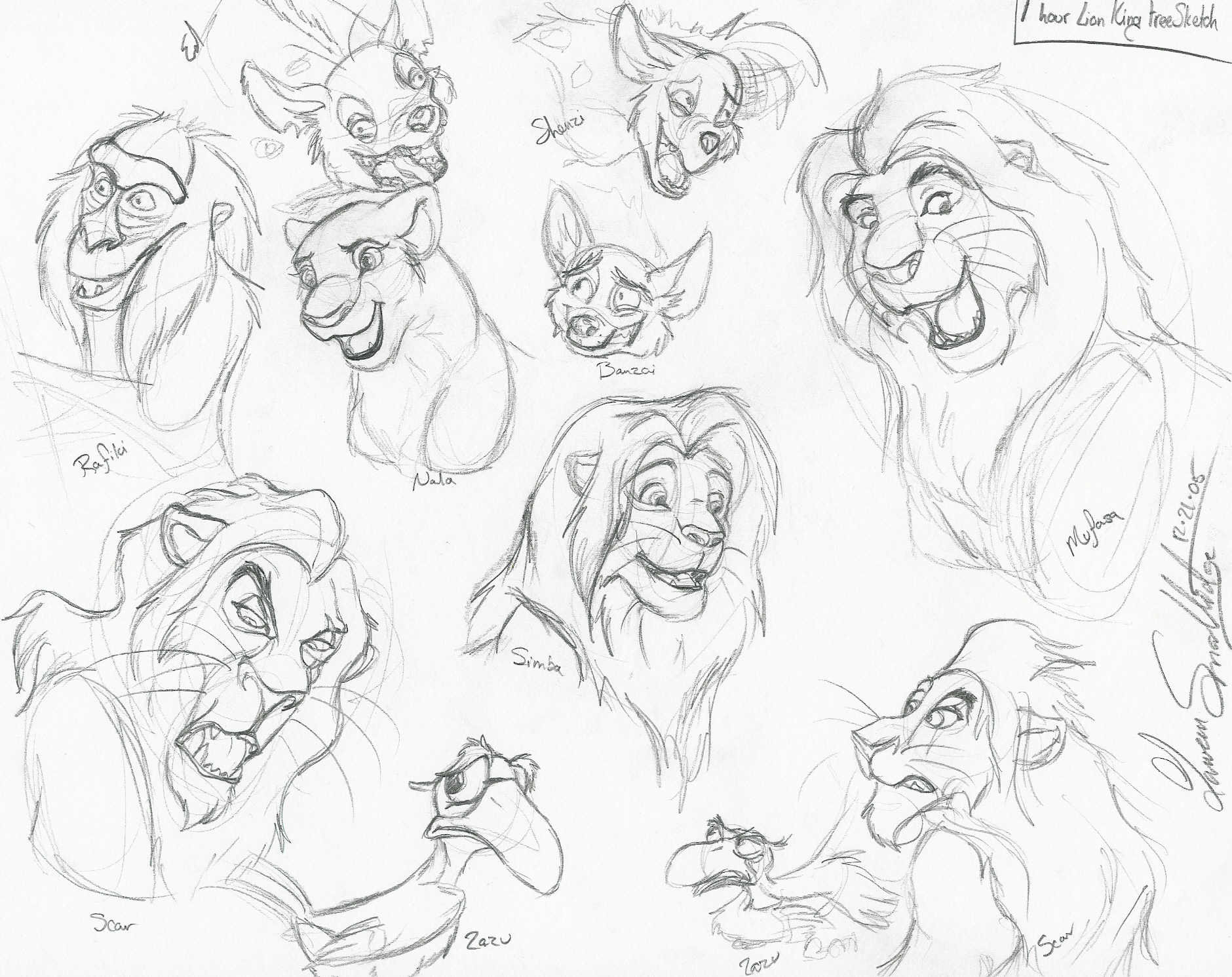 1880x1491 Lion King Facial Sketches By Whisper Of Shadows
