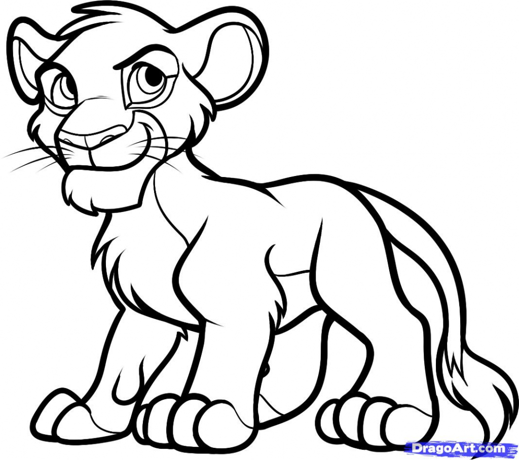 1024x907 Drawing Of Lion King King Sketch Images For Kids How To Draw