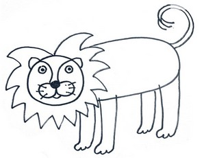 295x230 How To Draw A Lion For Kids