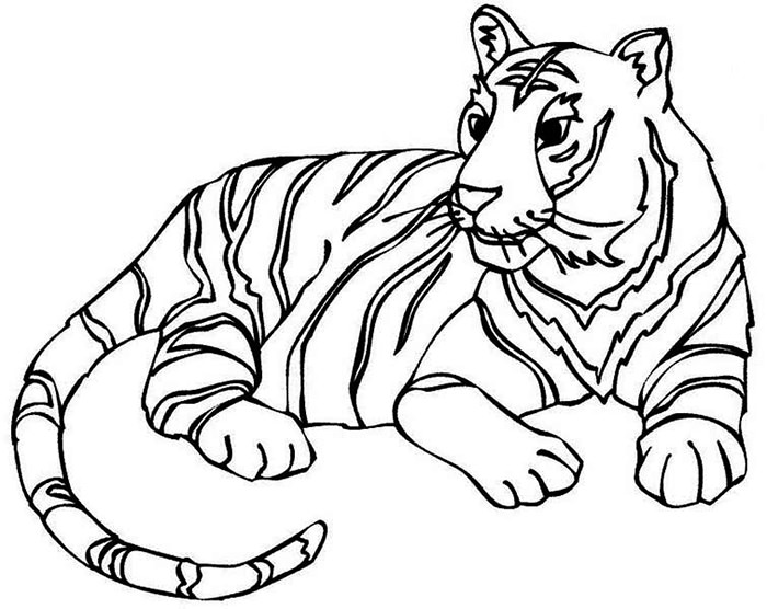 700x556 Kids Drawing Templates 60 Tiger Shape Templates Crafts Colouring