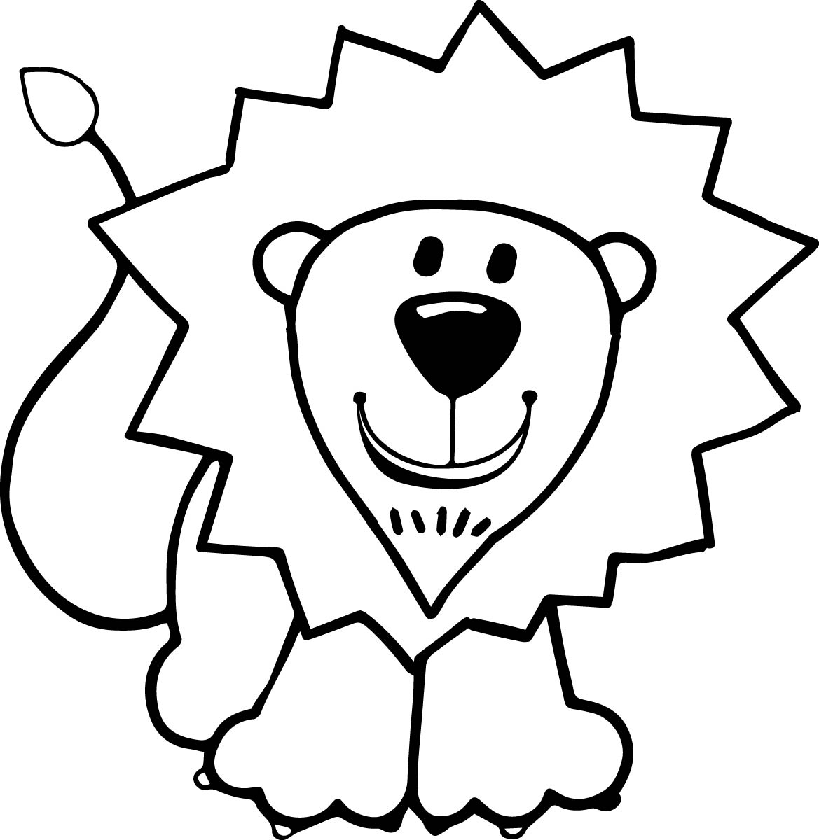 1169x1200 Kids Lion Coloring Page Wecoloringpage