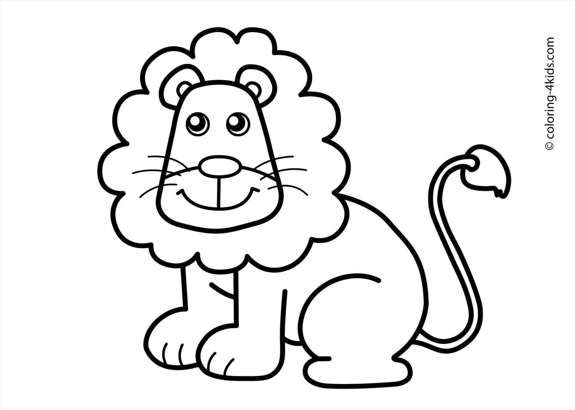 1899x1355 The Images Collection Of S Animal Drawing For Kids Lion Coloring