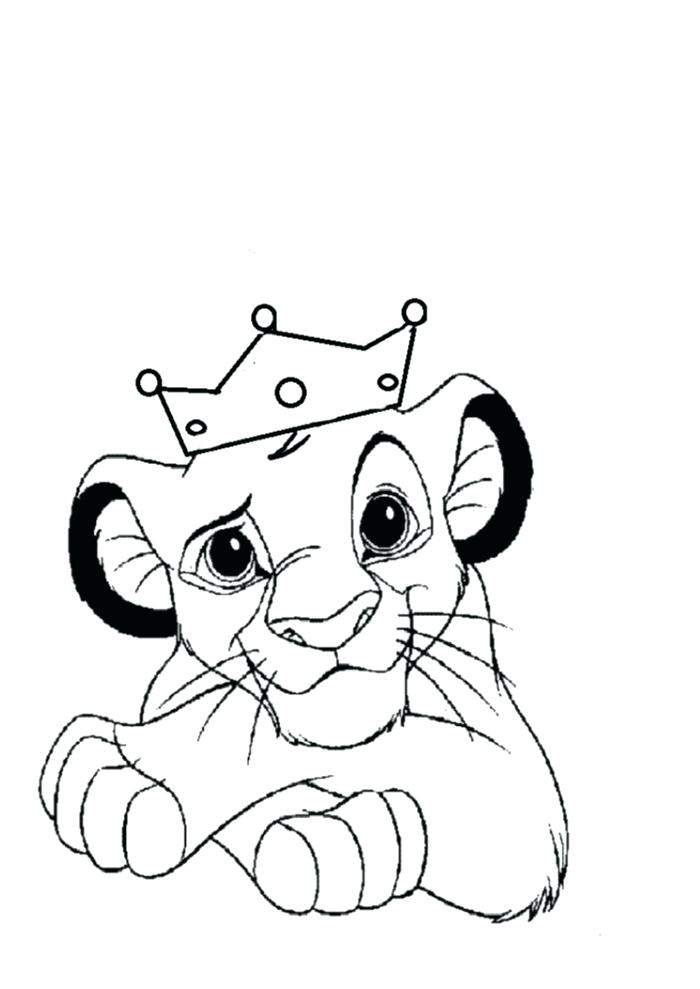 700x989 Coloring Pages Of A Lion For Kids Easy Color By Number Worksheets