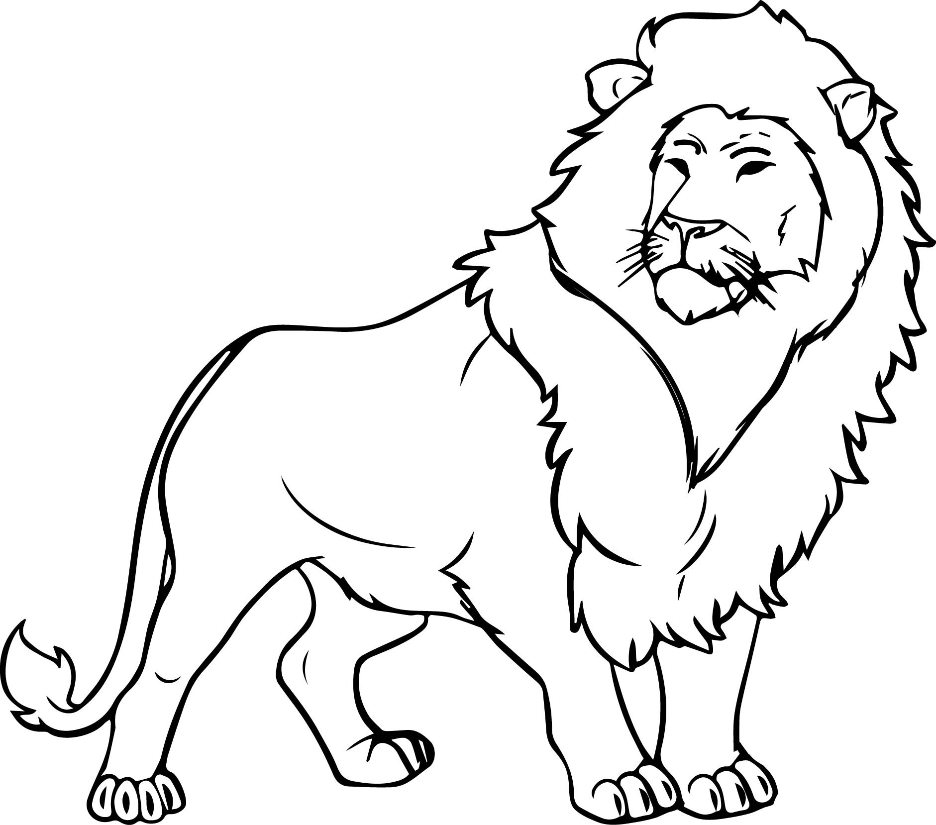 1881x1658 Coloring Pages Draw A Lion For Kids Free Draw To Color