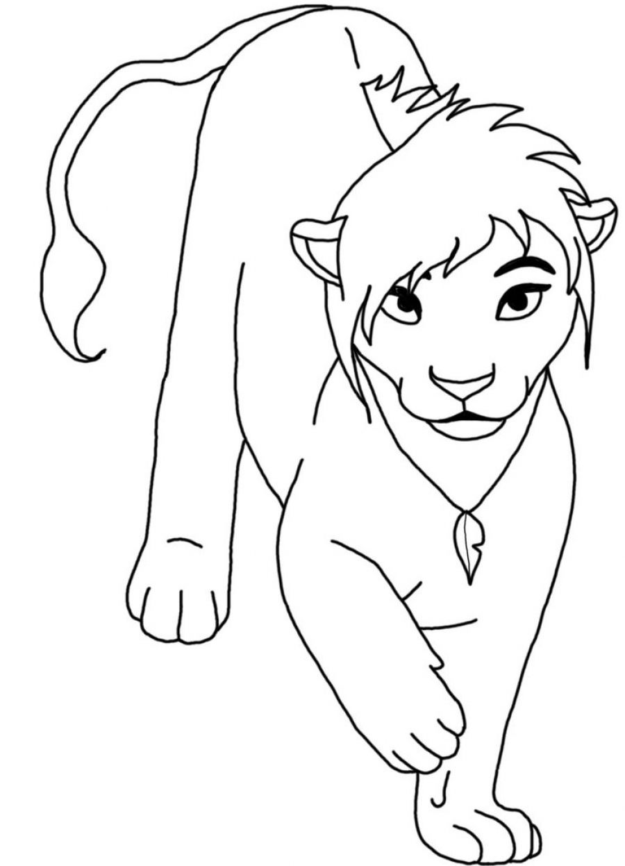 free coloring pages of lions - photo#35