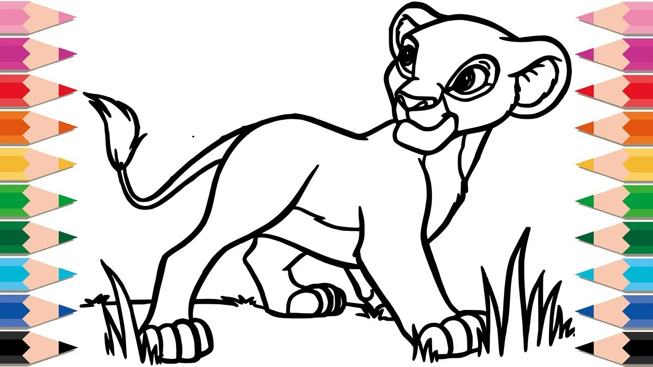 1280x720 How To Draw The Lion King Coloring Pages Drawing And Learn Colors