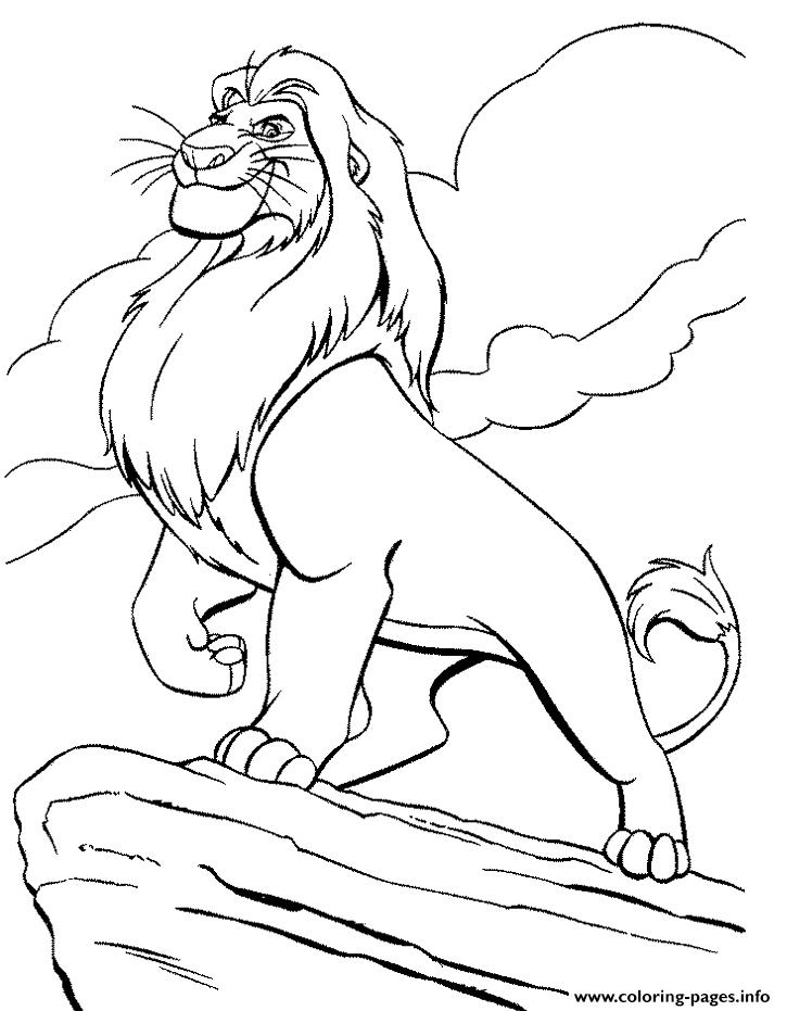 725x931 King Mufasa S For Kids Lion King5cf8 Coloring Pages Printable