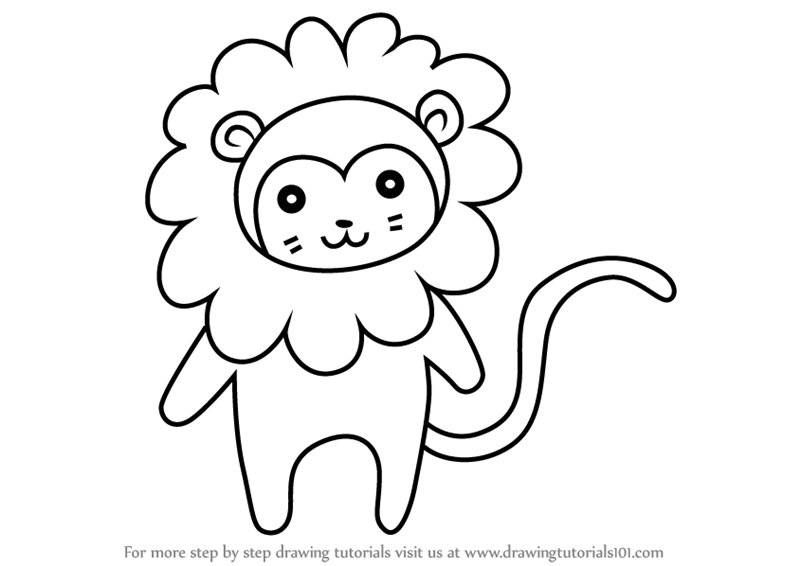 800x566 Learn How To Draw A Golden Lion Tamarin For Kids (Animals For Kids
