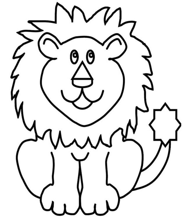 650x768 lion template animal templates free premium templates coloring - Lion Coloring