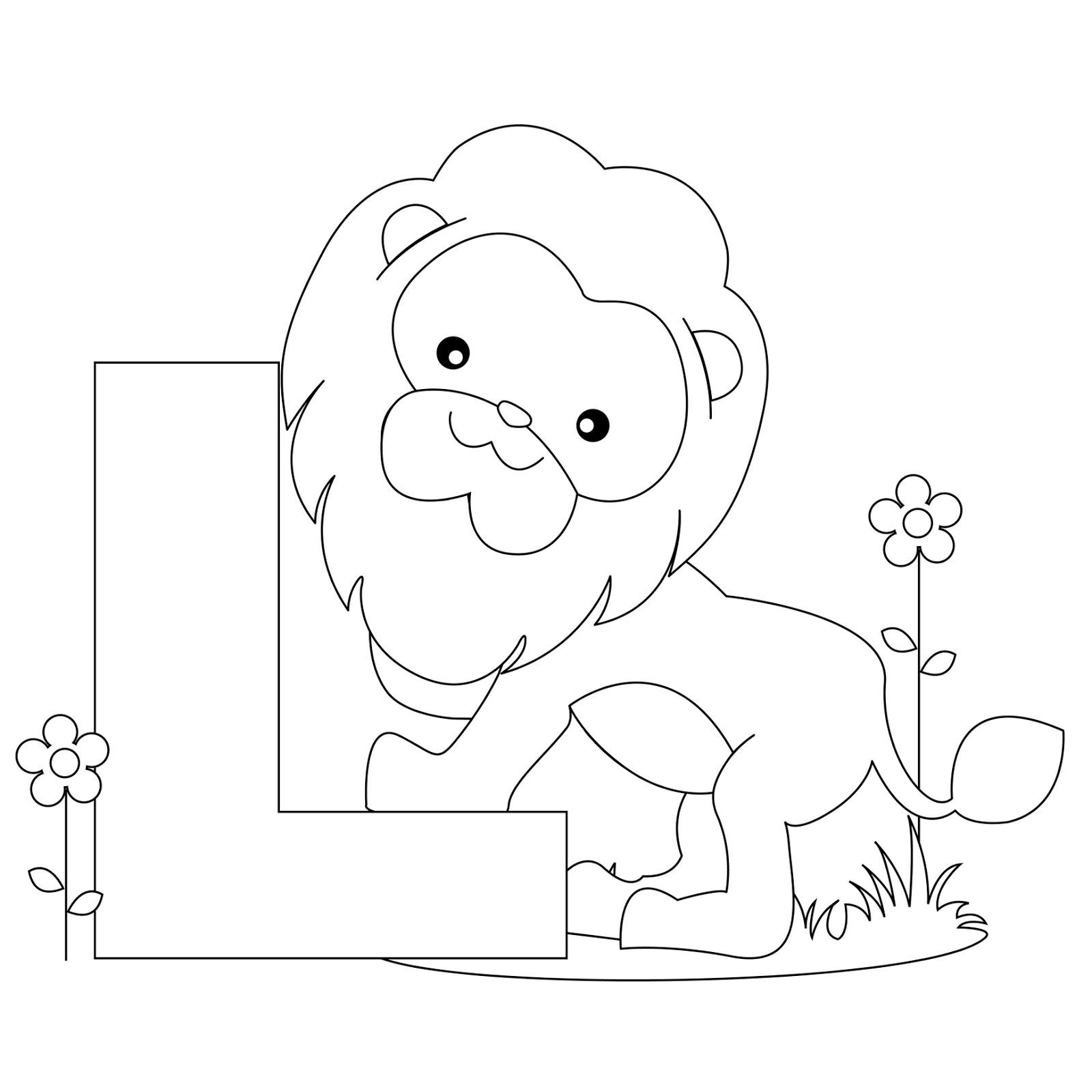 1600x1600 Lion Toddler Alphabet Coloring Pages